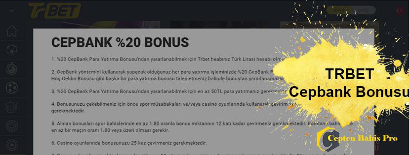 Trbet Cepbank Para Yatırma Bonusu